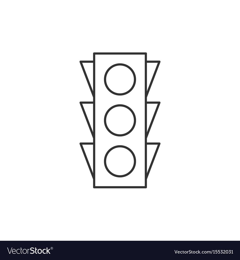 Traffic light outline icon