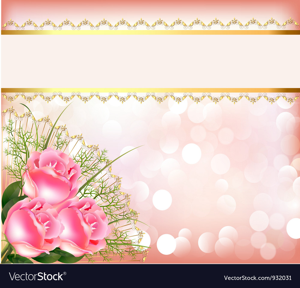 Free Wedding Ideas: Wedding Theme Background Royalty Free Vector Image