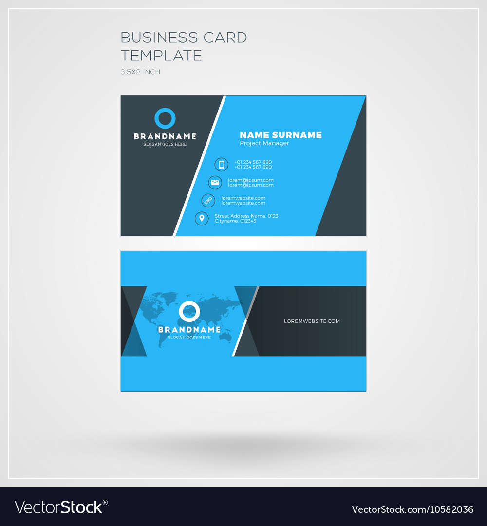 Business Card Print Template Personal Visiting Vector Image