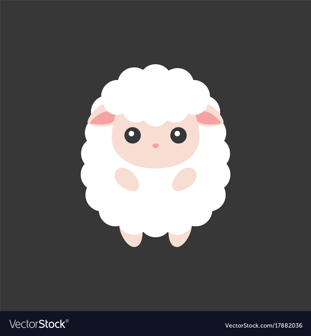Cute sheep cartoon character for chinese zodiac