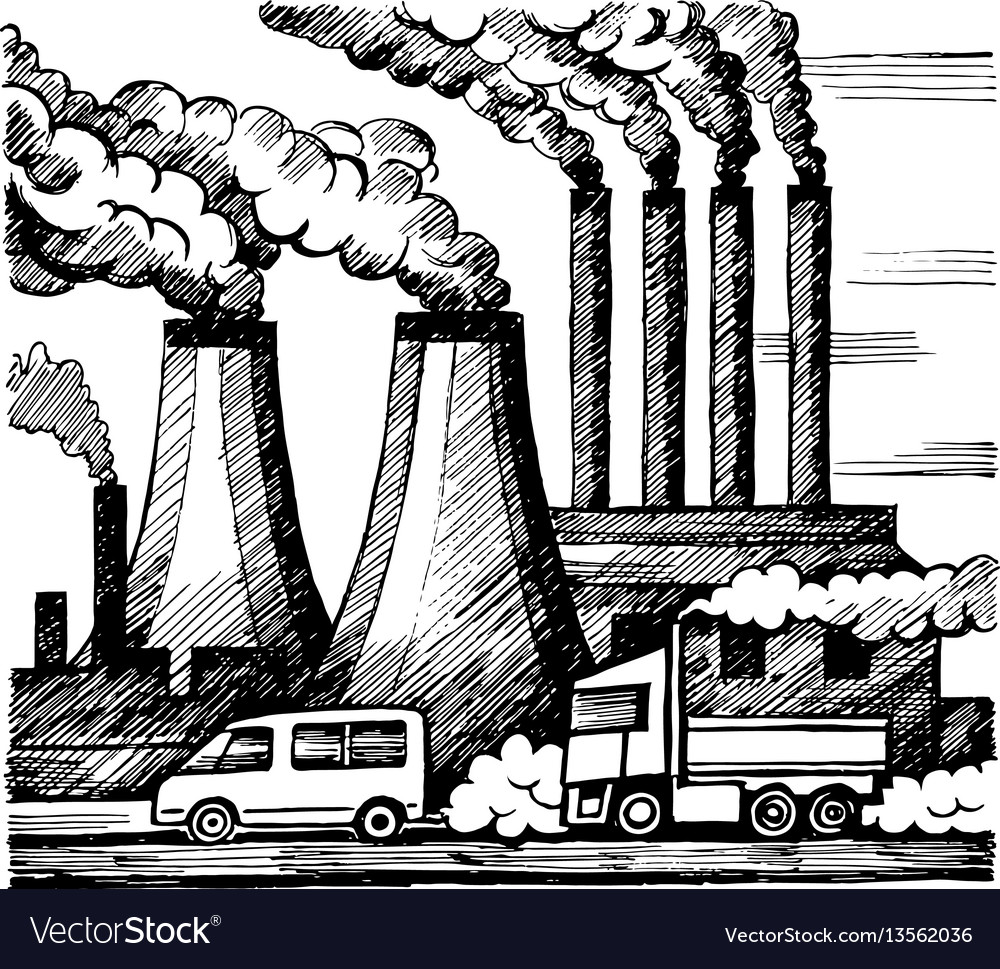 Ecology air and atmosphere pollution vector image