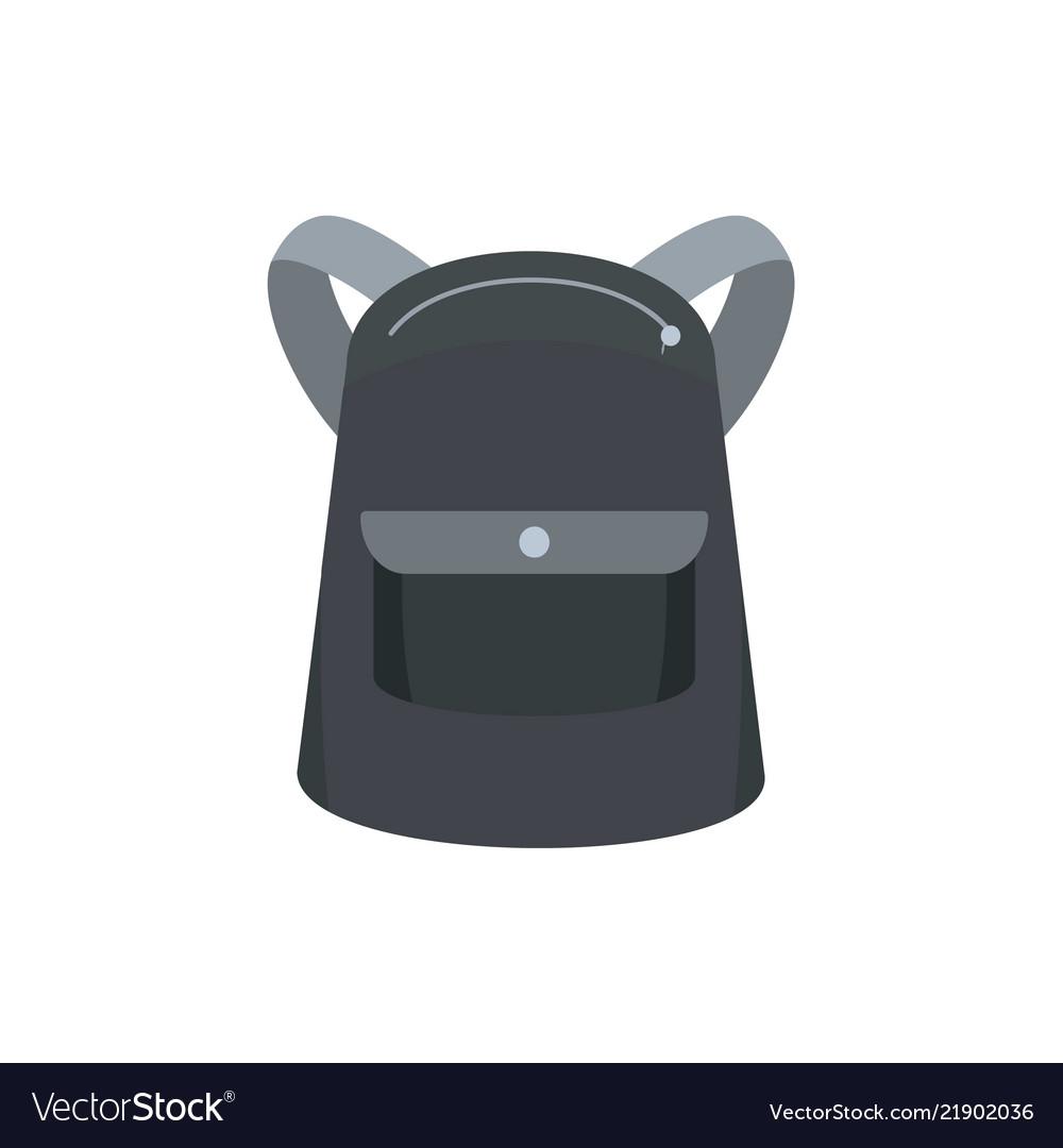 Emmo backpack icon flat style