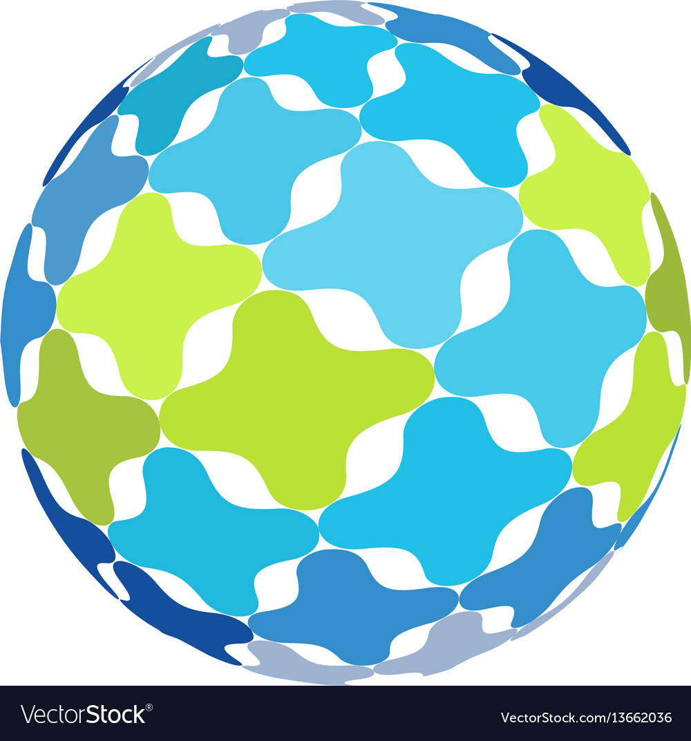 Isolated abstract colorful world earth icon vector image