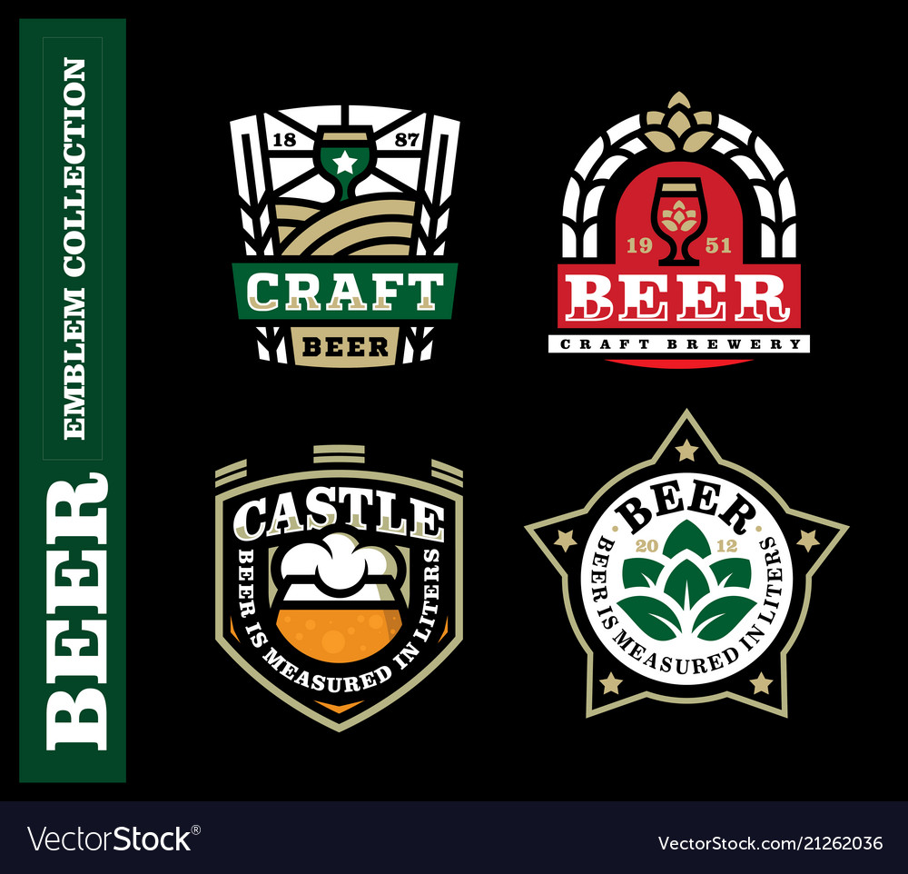 Modern professional label set for a craft beer