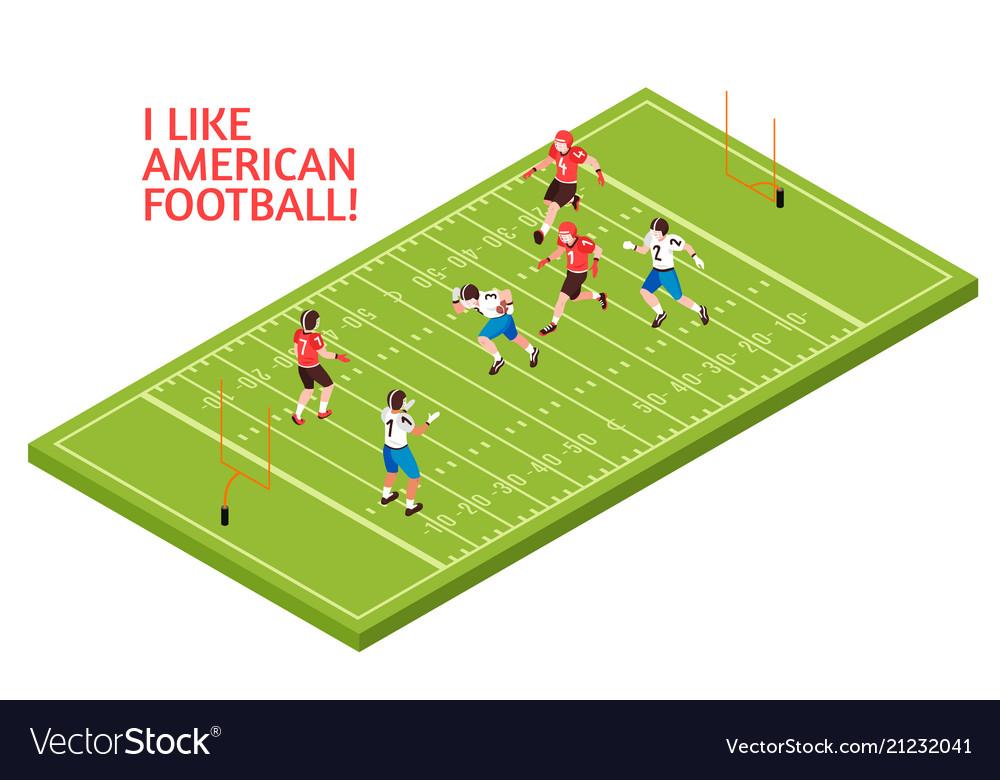 American football isometric