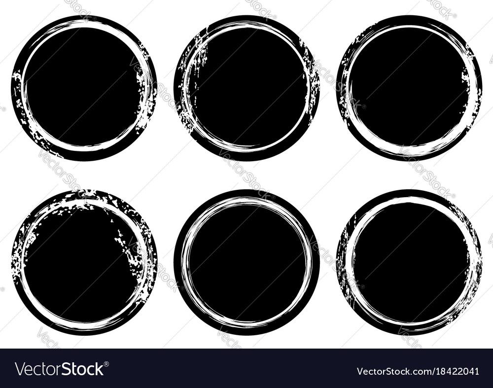 Black and white grunge stamp insignia round