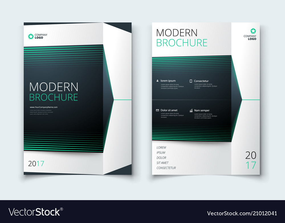 Corporate business annual report cover brochure