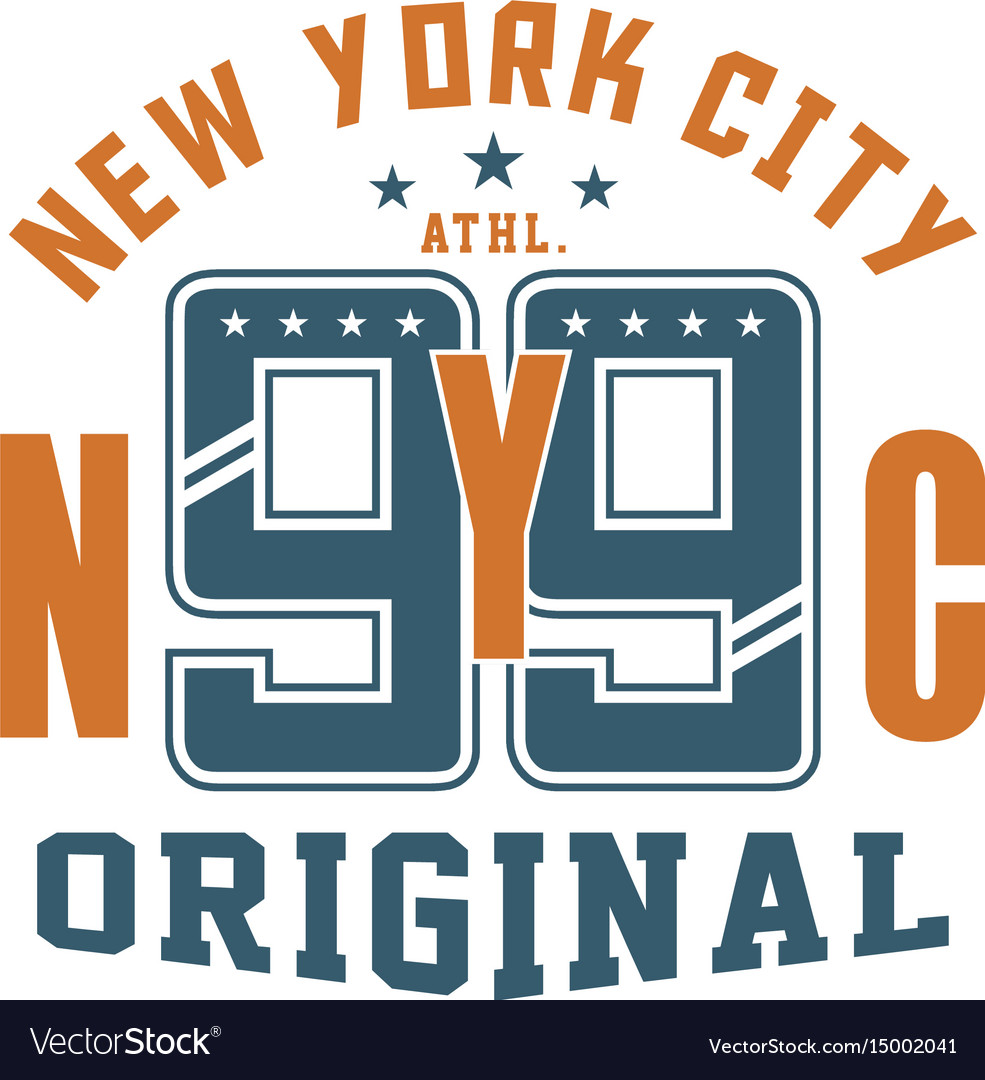 Graphic design new york nyc original for t-shirts
