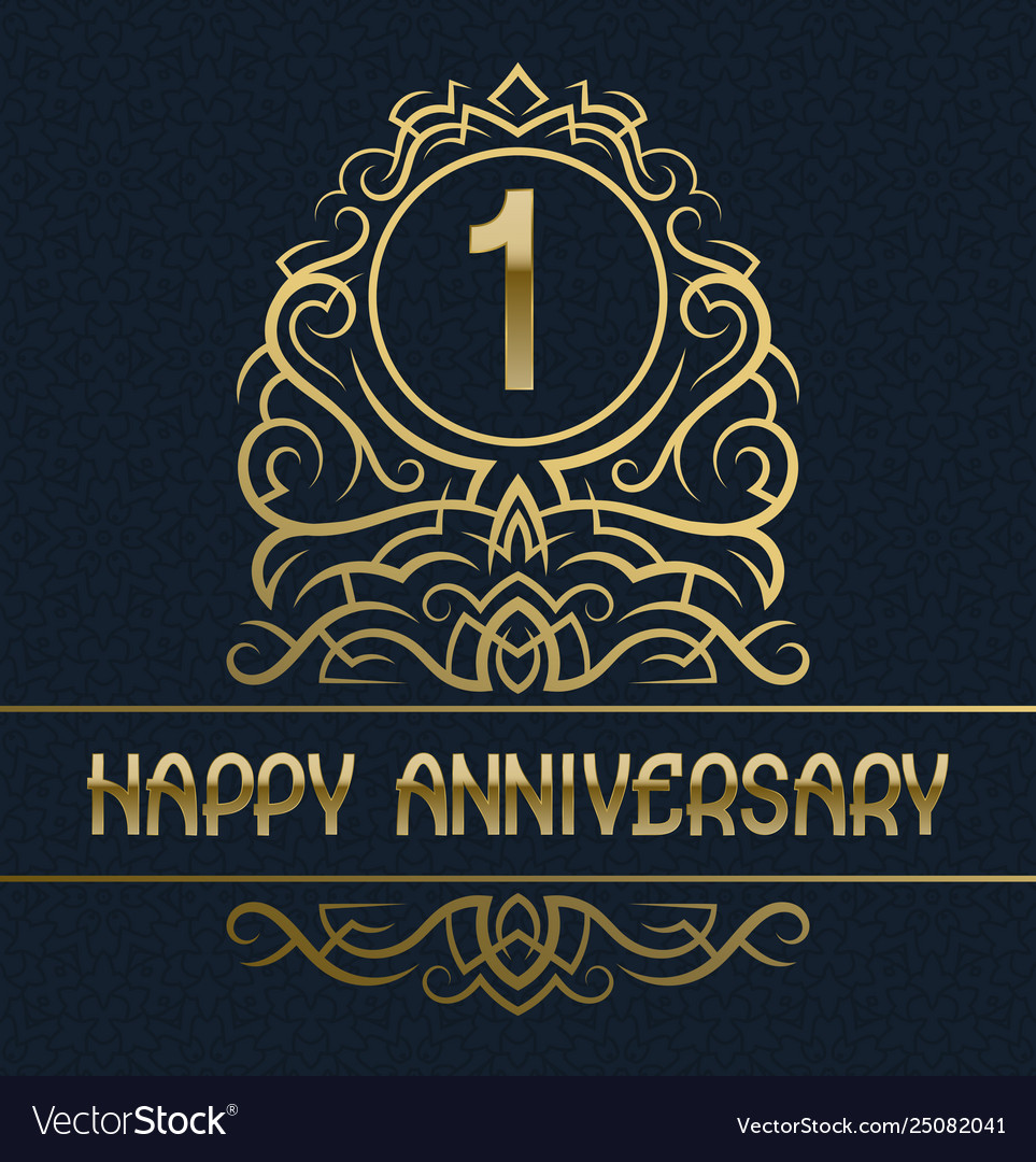 Happy anniversary greeting card template for one