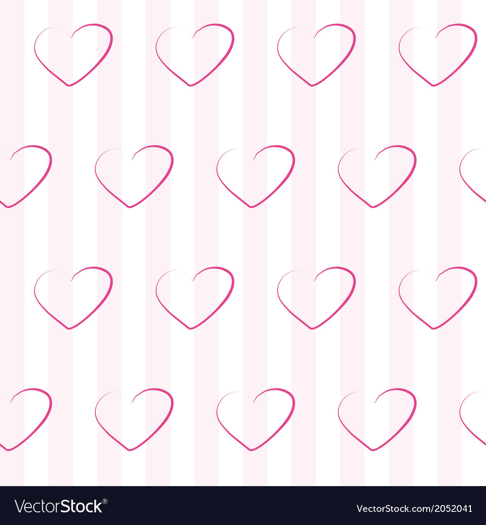 Pink seamless pattern with hearts