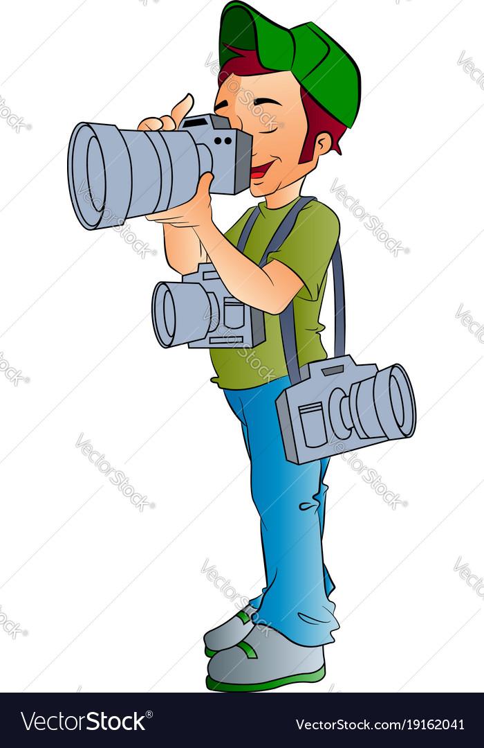 Professional photographer vector image