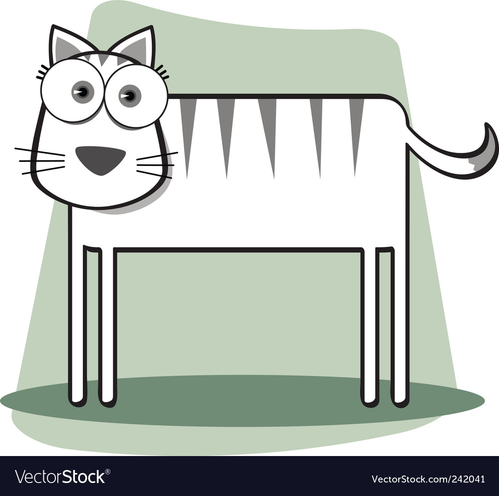square animal bw cat vector