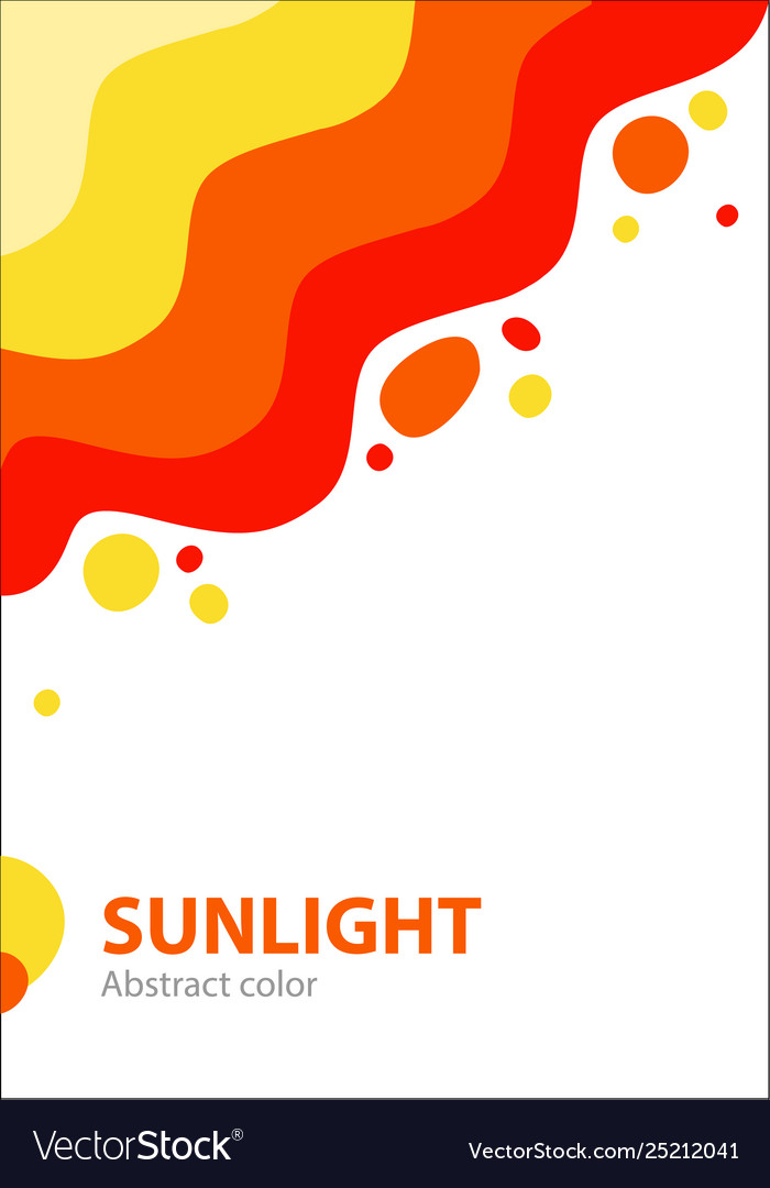 Summer abstract cover with bright colorful sun and