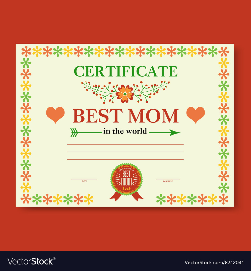 Template Of The Certificate Congratulations Vector Image
