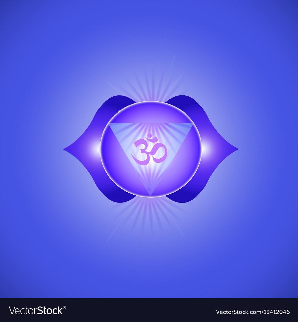Ajna Chakra Royalty Free Vector Image Vectorstock