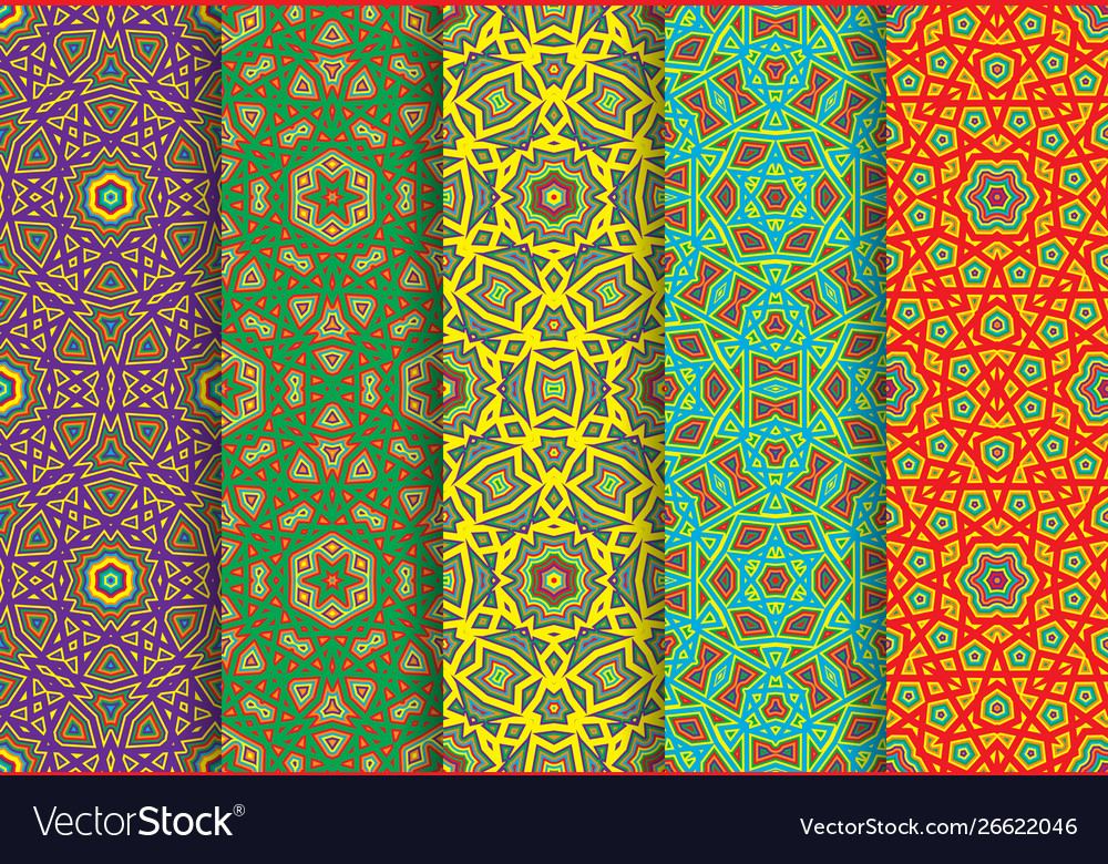 Carnival colorful seamless patterns package