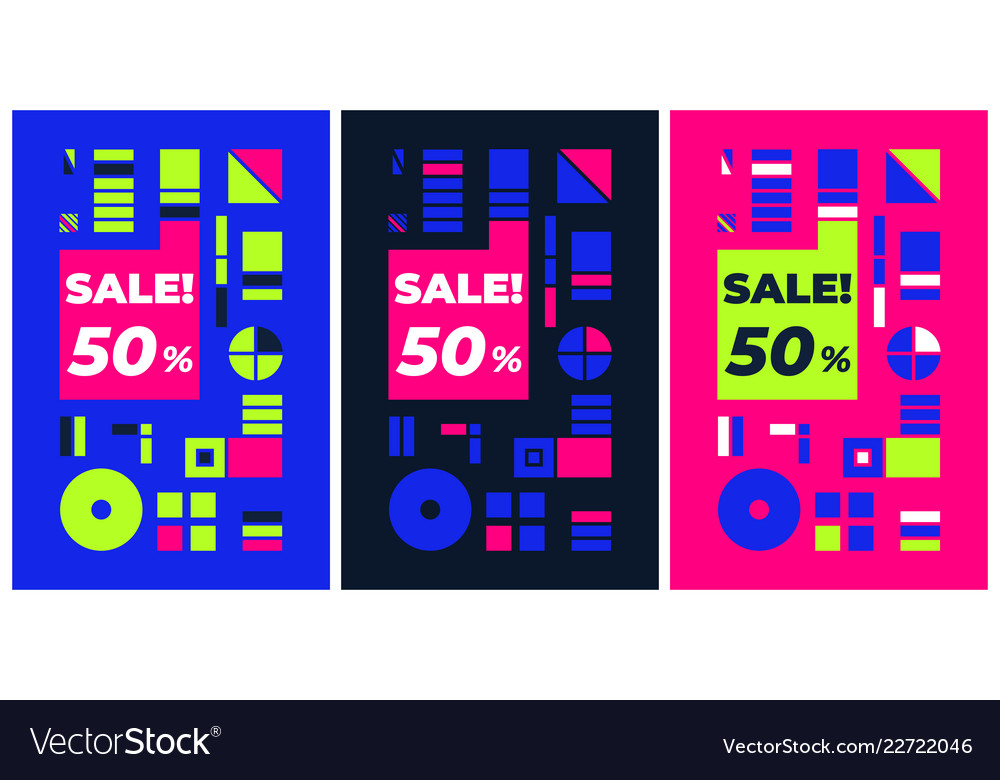 Geometric poster black friday sale template