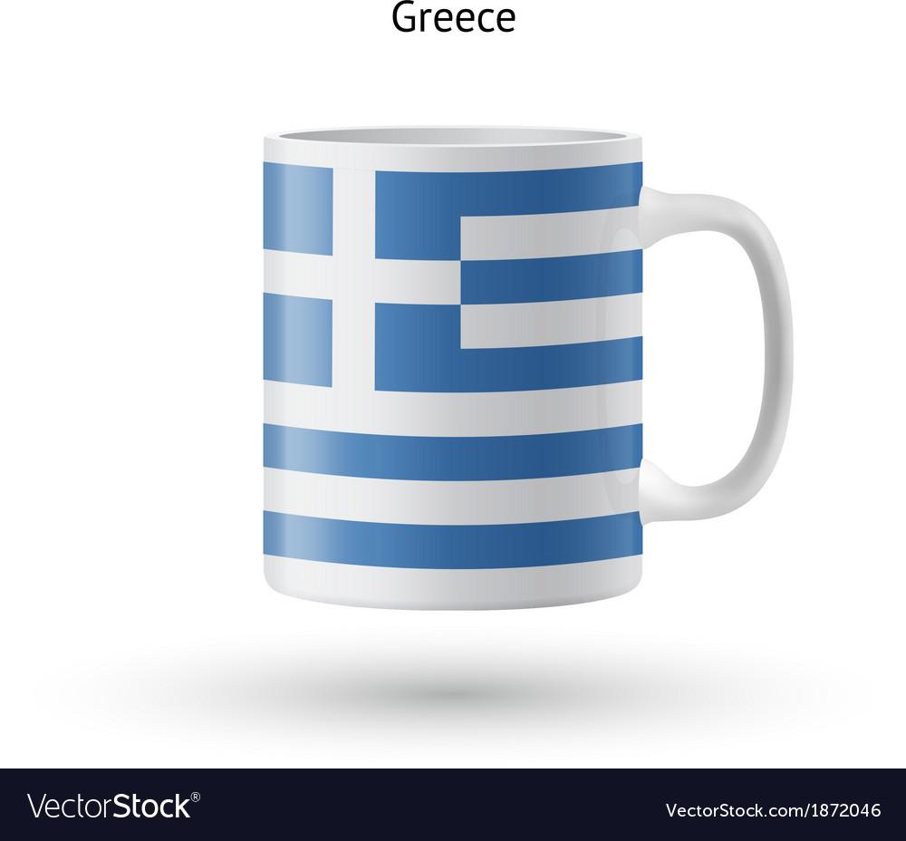 Greece Flag Souvenir Mug On White Background