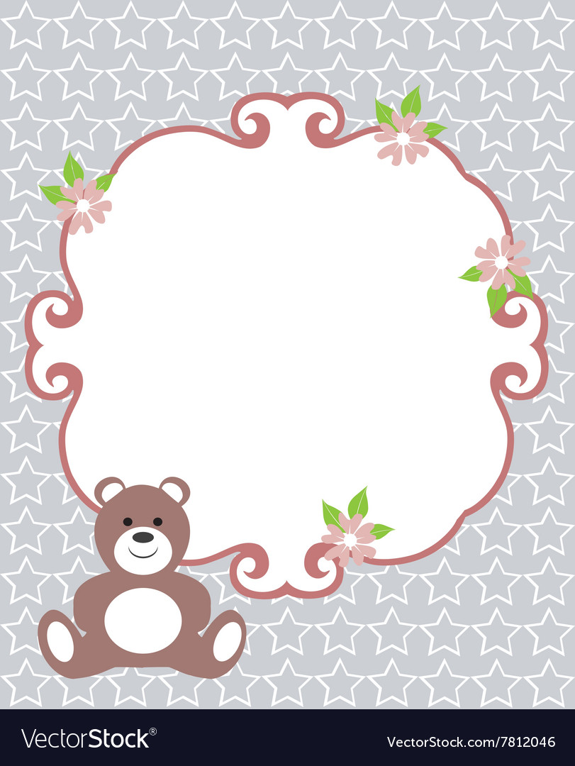 Invitation card bear