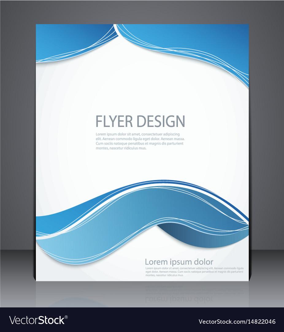 Layout brochure flyer design template vector image