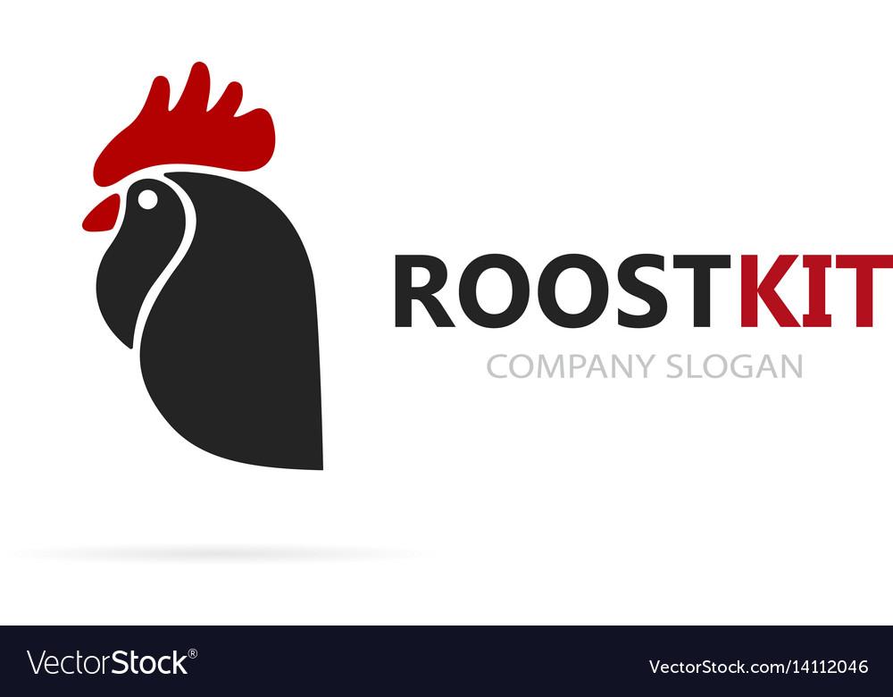 Rooster and cock logo combination