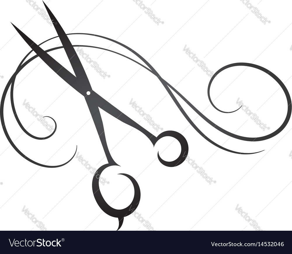 Scissors and hair sign