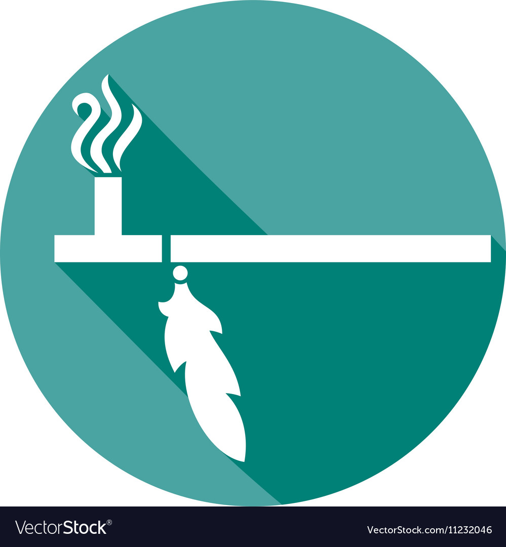 Traditional Native American Peace Pipe Icon vector image