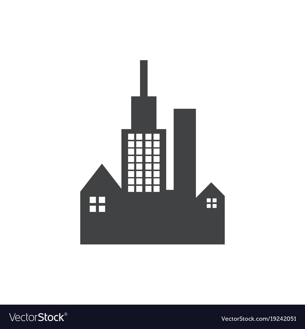 Building dark black logo