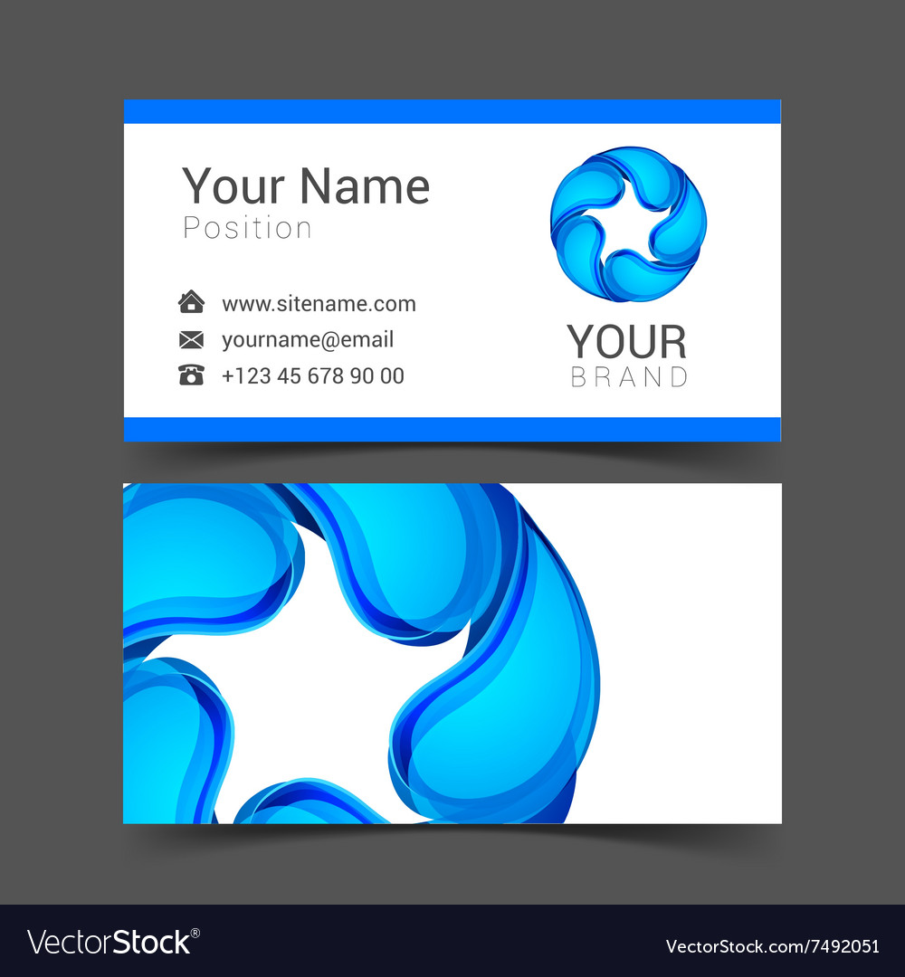 Business card with water drop royalty free vector image business card with water drop vector image colourmoves