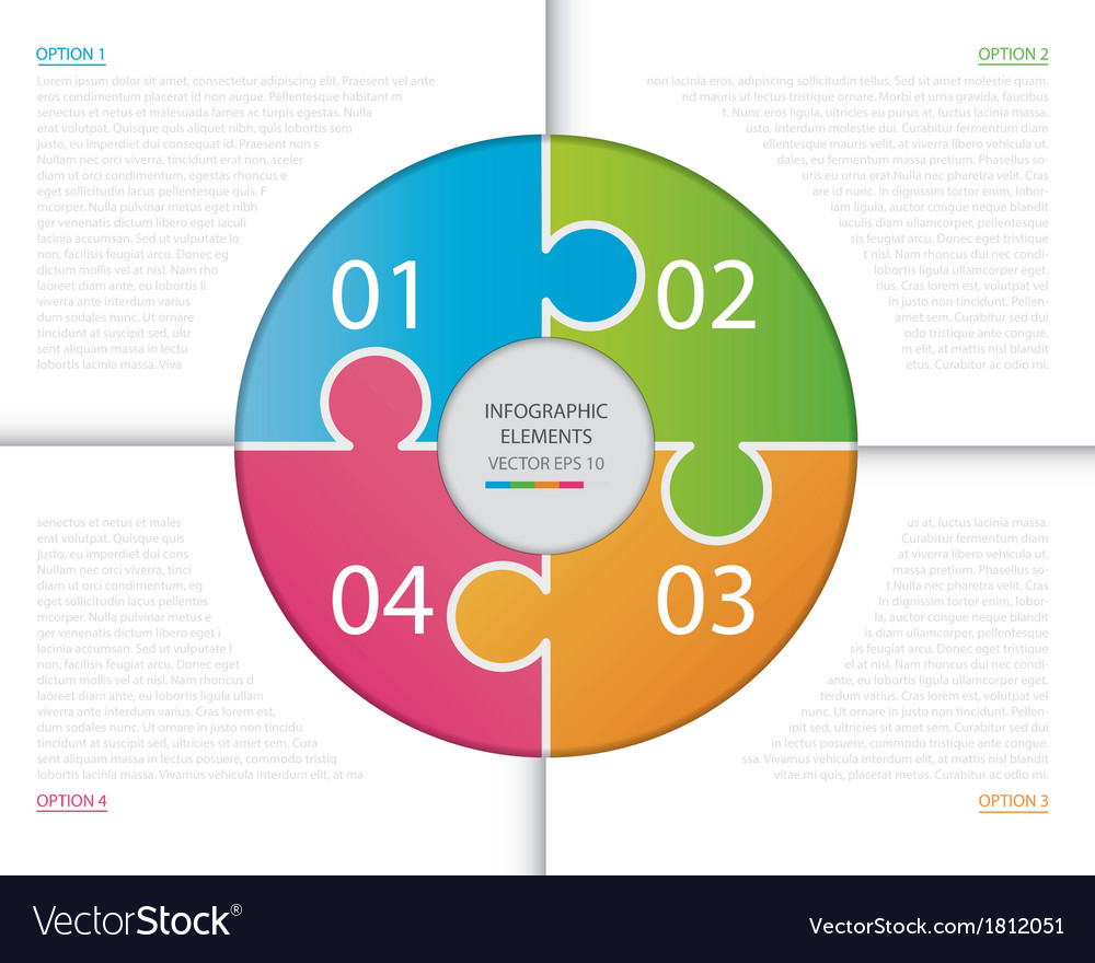 Circle Puzzle Infographic vector image
