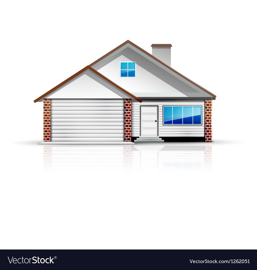 Clean and glossy detailed house icon vector image