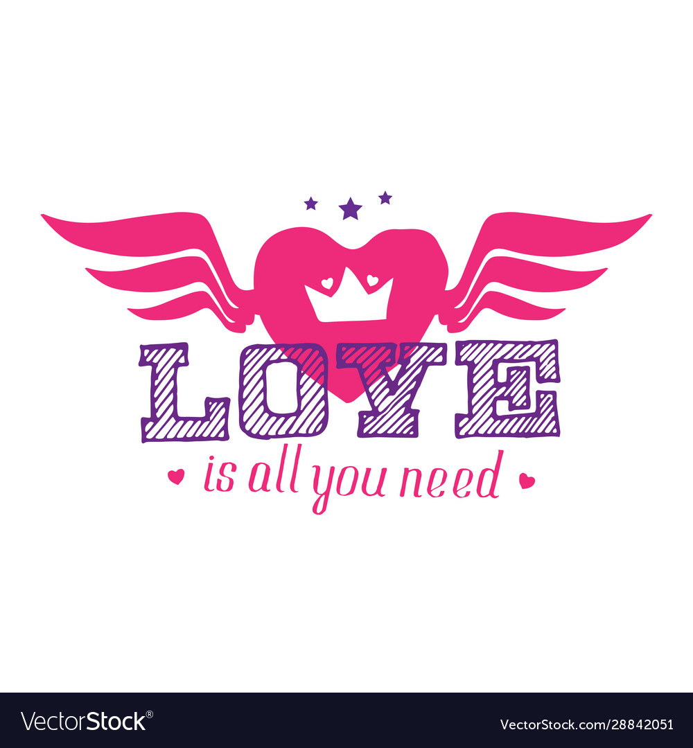 Love is all you need - t-shirt print for girls
