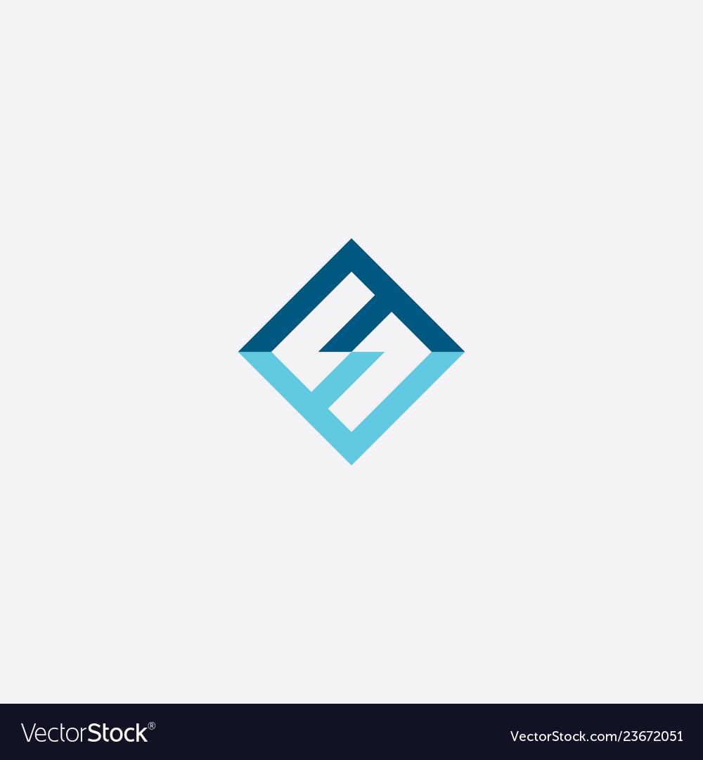 Number 5 blue letter s logo symbol