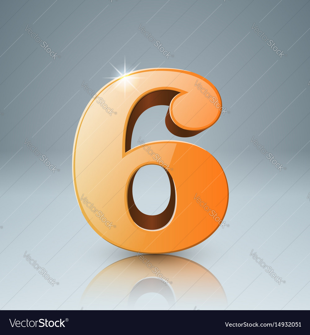 Six icon on the grey background vector image