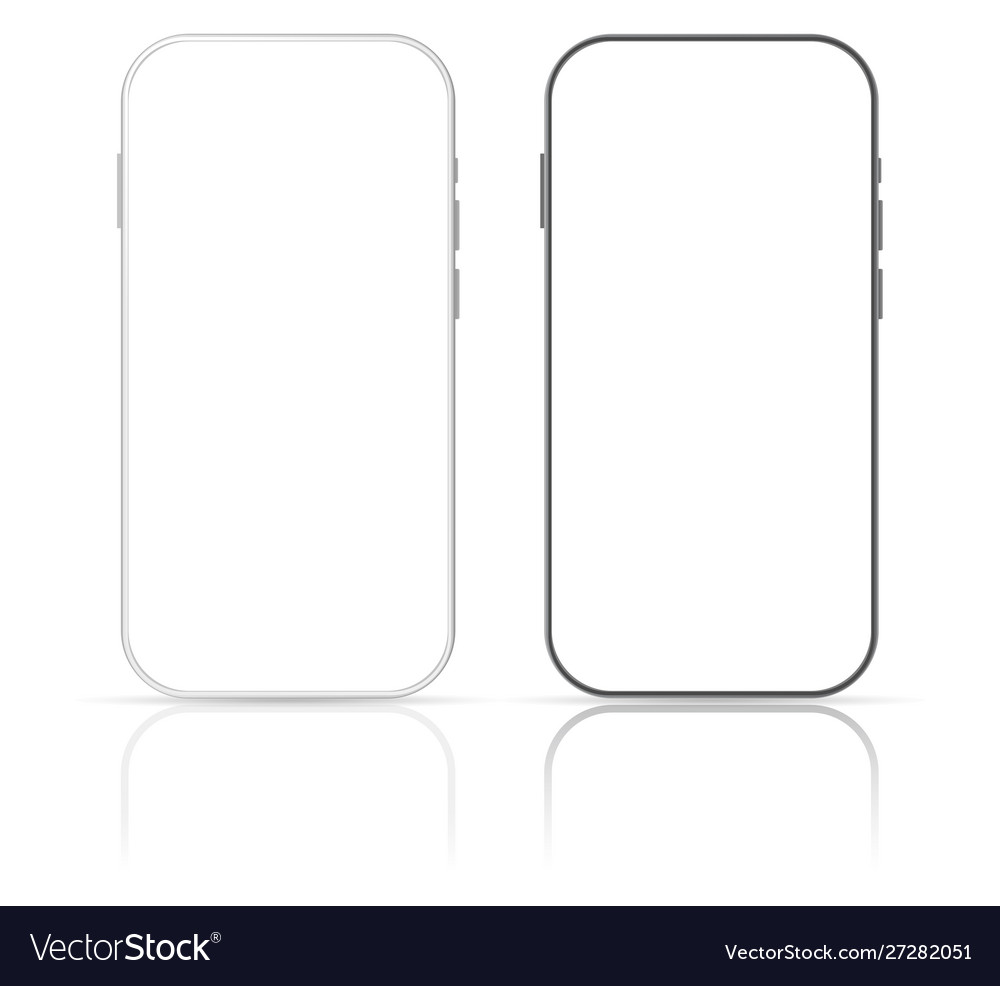 Smartphone mockup screen design template