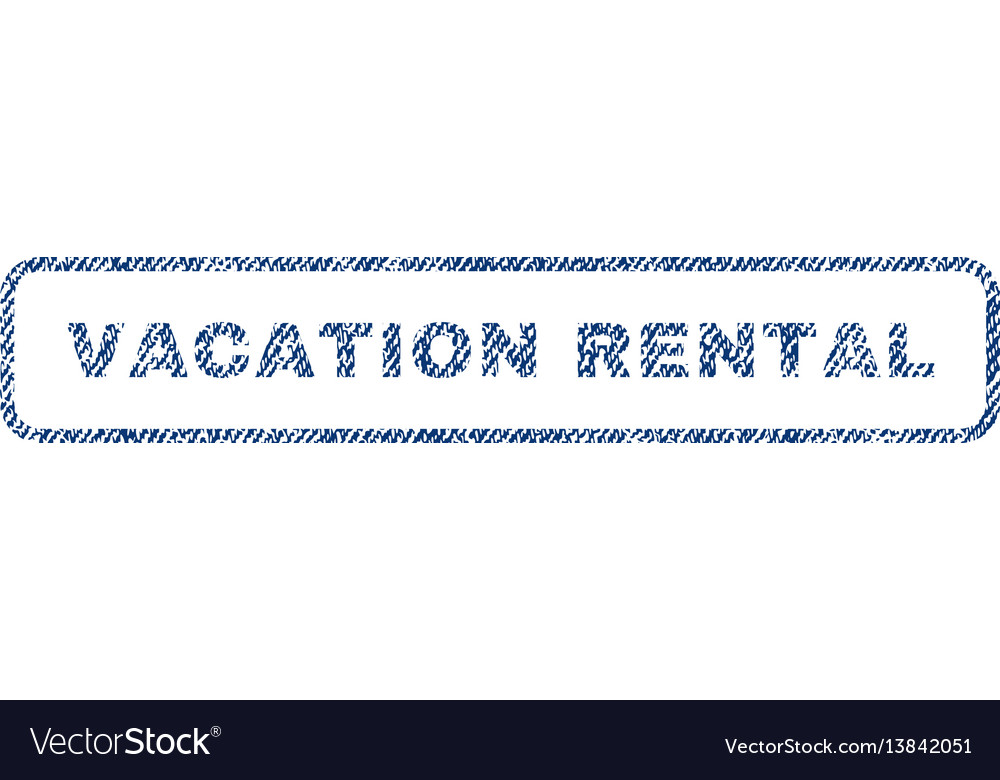 Vacation rental textile stamp vector image