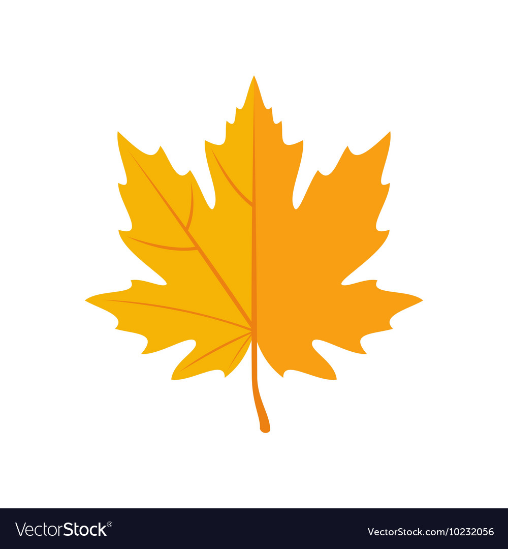 Autumn Leaves Icon In Flat Style Royalty Free Vector Image