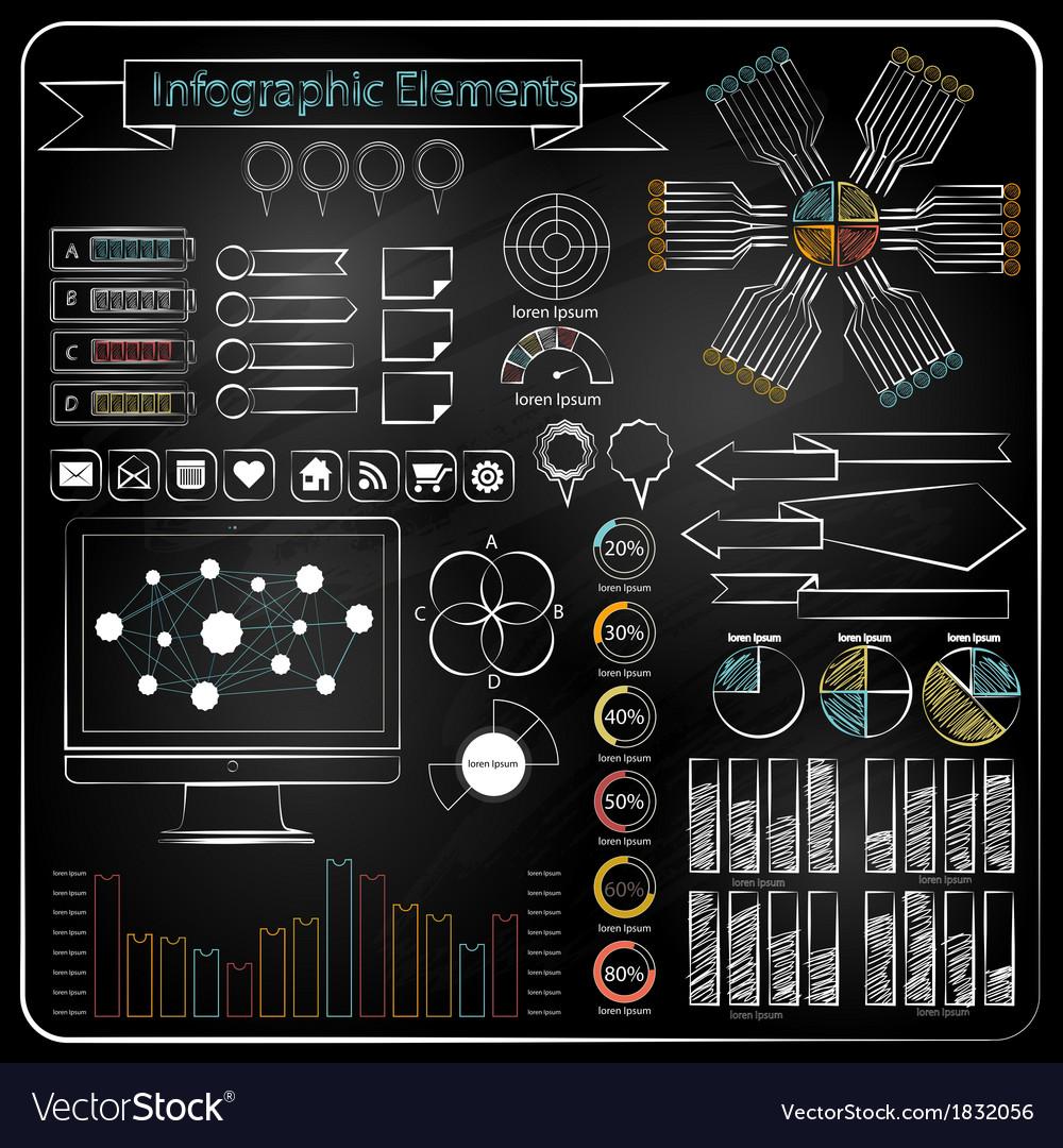 Chalk board doodle web charts