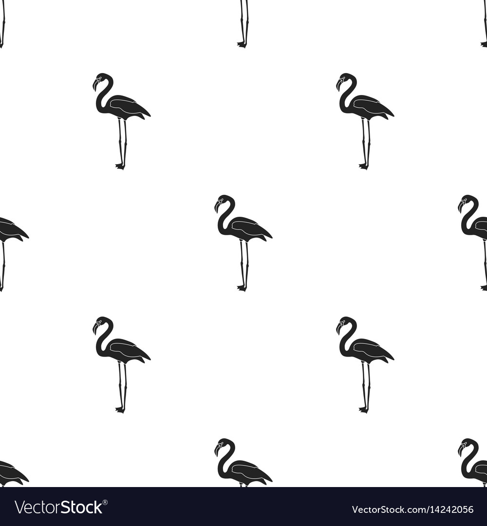Flamingo icon in black style isolated on white