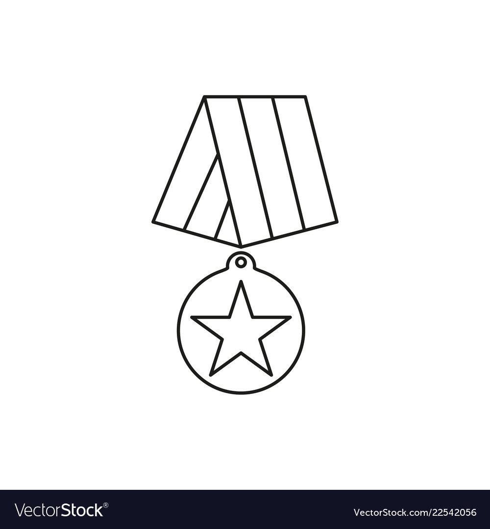 Medal of veterans day icons for hero