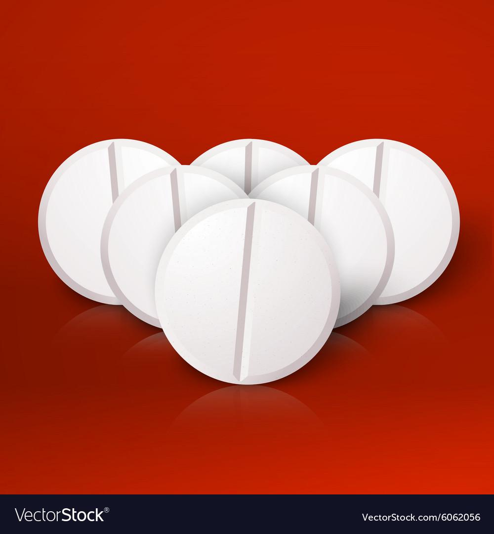 Set of Photorealistic Medicine Pill Pharmacy