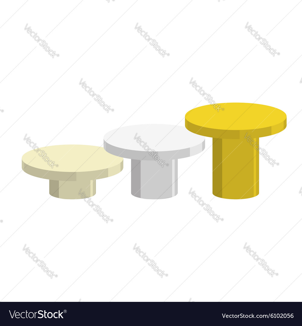 Sports Round pedestal fo winner Prizes for vector image