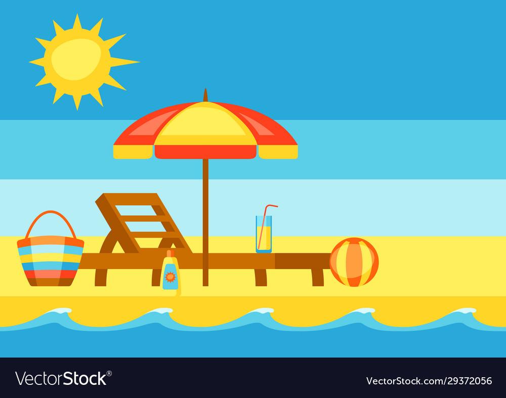 Summer holidays sea surf on sandy beach