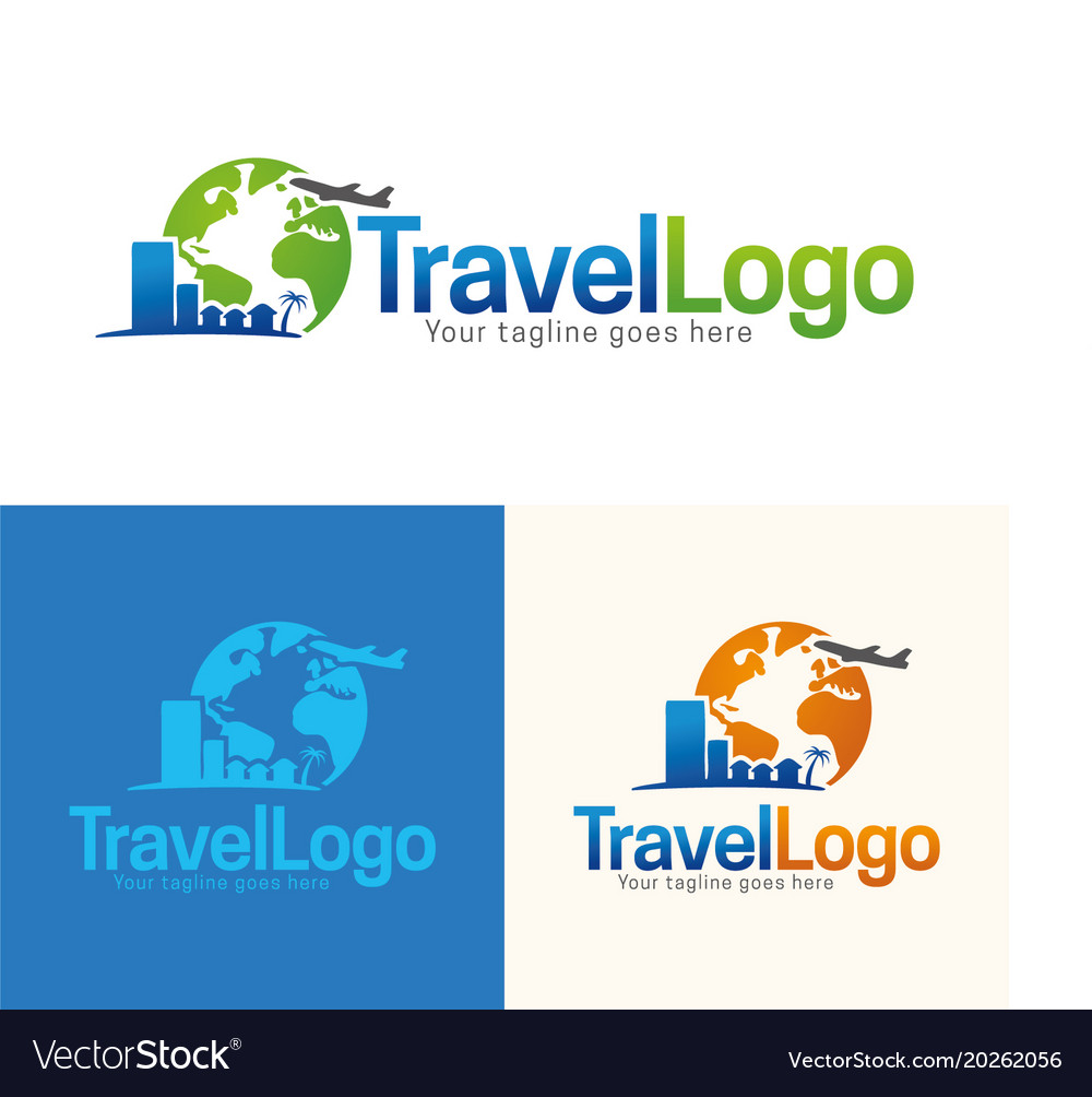 Travel icon and logo