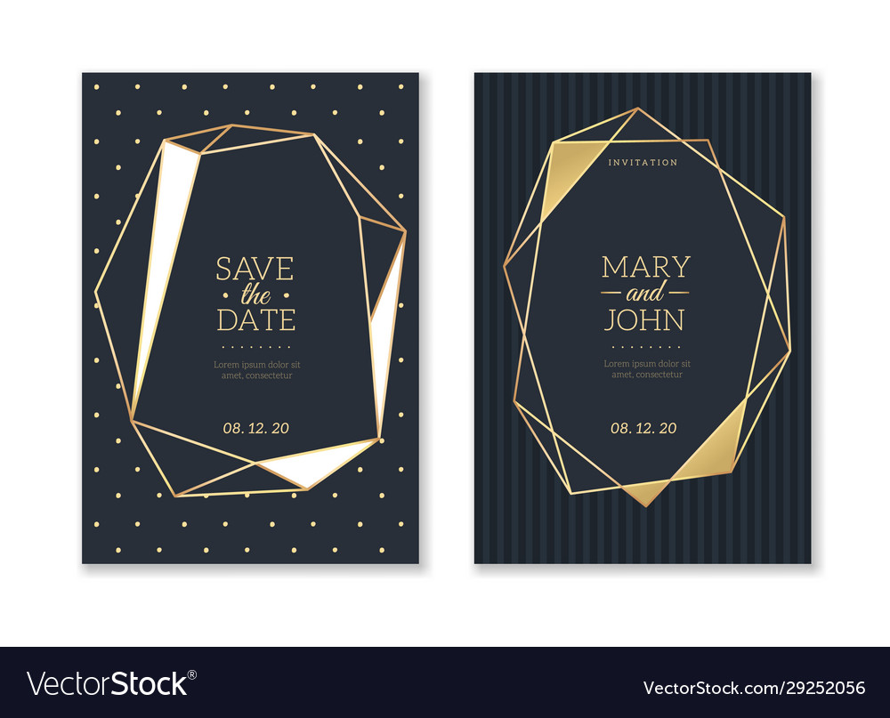 Wedding invitation cards trendy luxury card