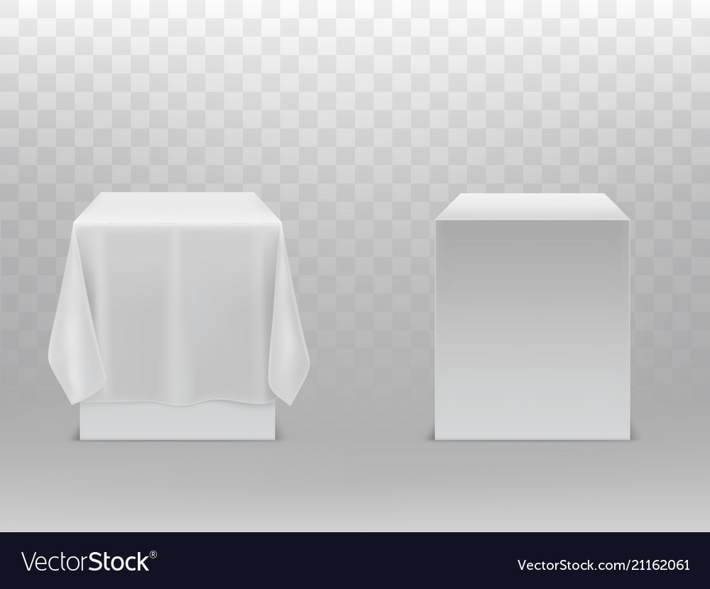 3d realistic cubes under white fabric