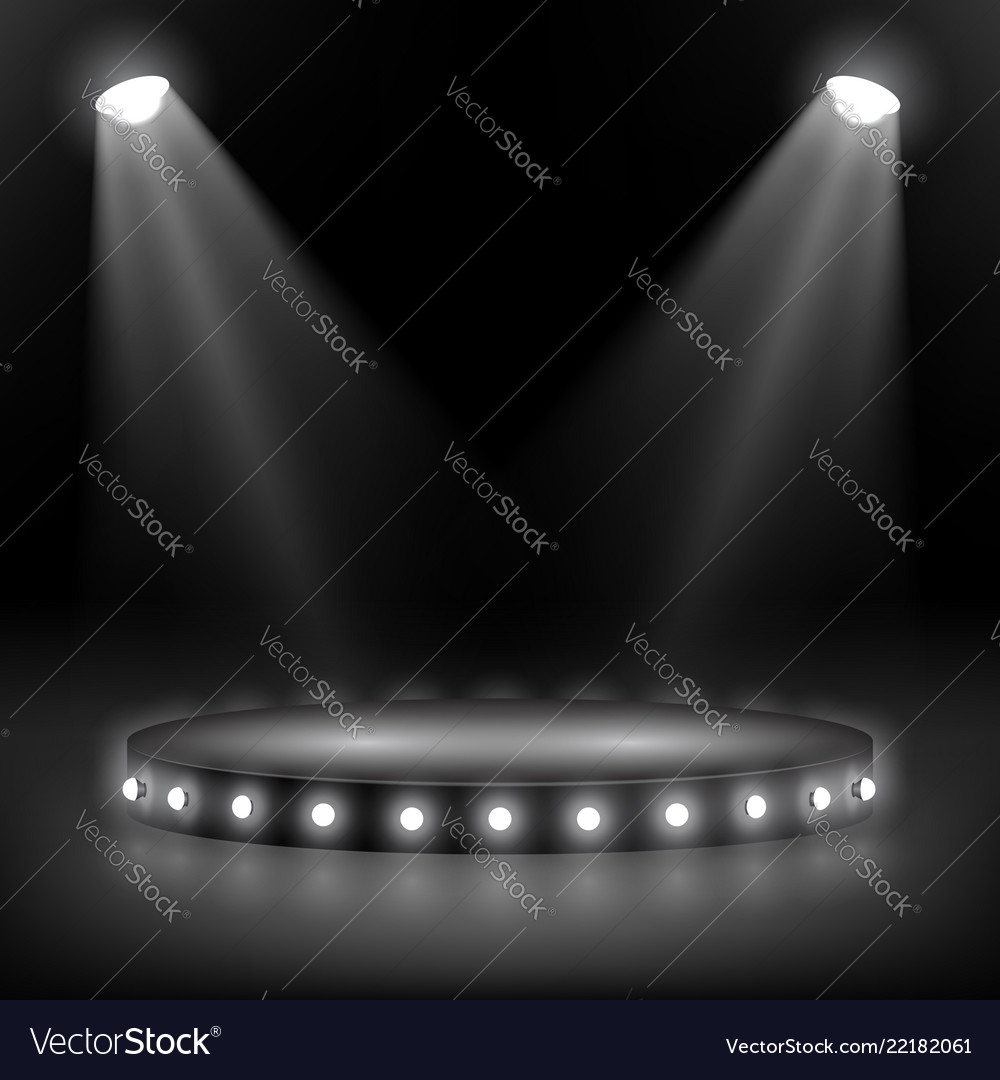 Overhead Lighting And A Series Vector Image