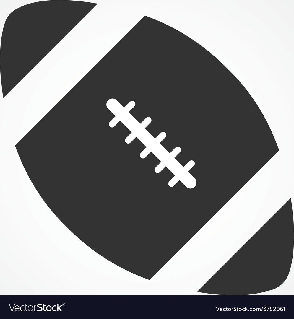 American football icon flat design vector image