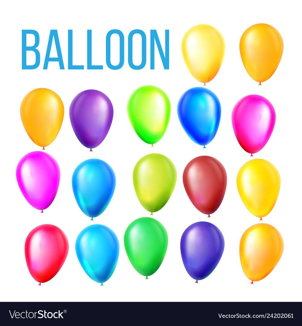 Balloons set birthday holiday event