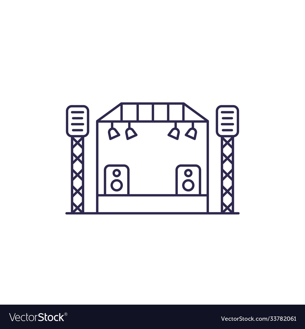 Concert stage line icon